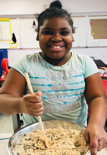 Marie Reed Elementary School Student Cooking