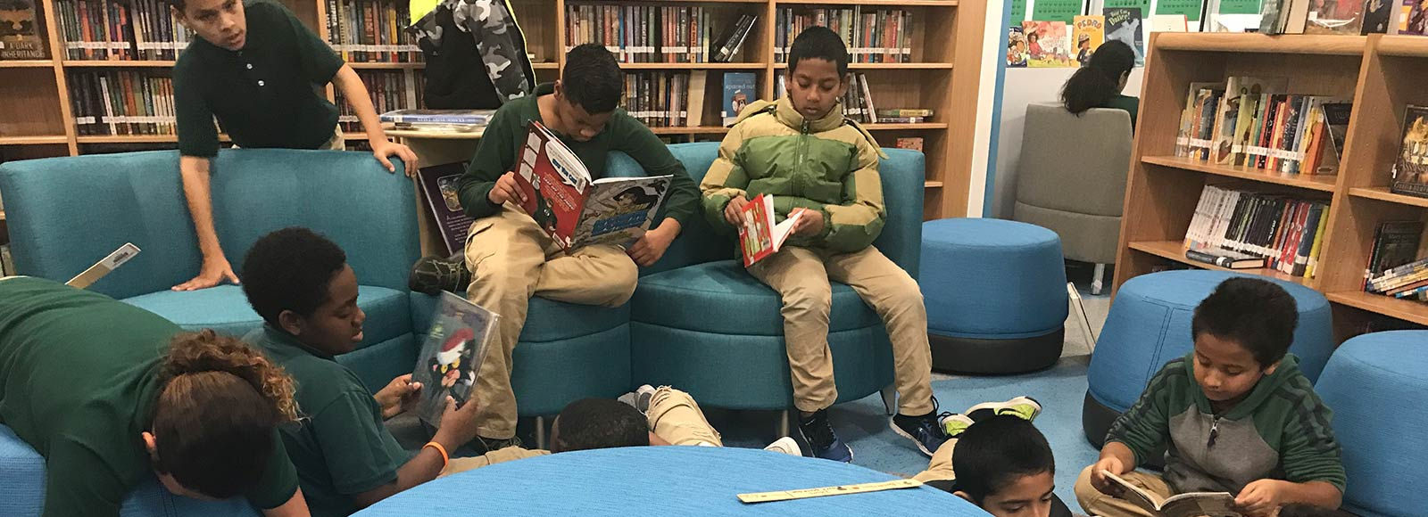 Marie Reed Elementary School Students reading